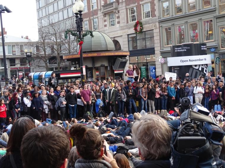 #HandsUpWalkout Harvard Square