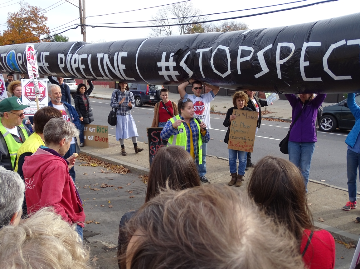 Breaking: Facing daily protests, Spectra Energy ends work in West Roxbury, MA untilSpring