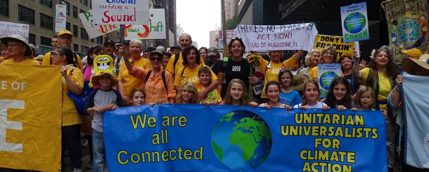 Unitarian Universalists at the Peoples Climate March